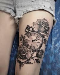 rose and time piece u2014 tattoos on women u2014 pinterest tattoo