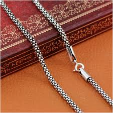 sterling silver necklace sale images Hot sale 100 real pure 925 sterling silver necklace women men jpg