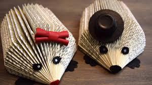 diy hedgehog book folding youtube