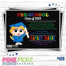 preschool graduation invitations themes preschool graduation invitations with brown card