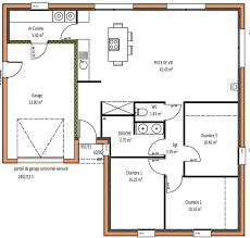 plan maison plain pied gratuit 3 chambres plan maison plain pied 1 chambre bellicourt ref 14153d maison t3