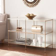 glass and metal console table southern enterprises knox console table walmart com