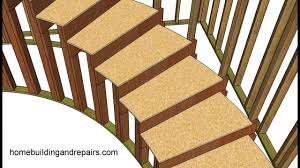 how to build and frame curved stairs example 2 youtube