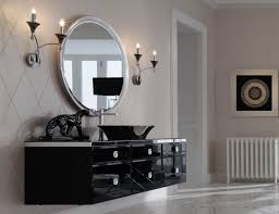 Bathroom Furniture Black Milldue Majestic 23 Black Lacquered Glass High End Italian