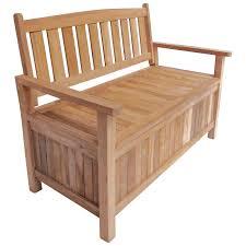 charles bentley 2 3 seater teak garden storage bench buydirect4u