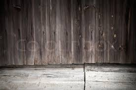 grunge interior background with weathered wooden wall and