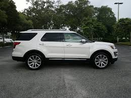 Ford Explorer Exhaust - certified pre owned 2017 ford explorer limited white platinum w
