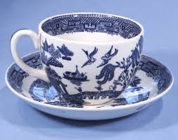 vintage china pattern wedgwood willow pattern vintage china tea cup and saucer