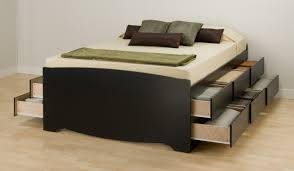 queen bed frame with big storage platform 12 under bed drawers