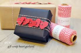 diy gift wrap heart garland smitten on paper