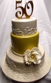 50th Decoration Ideas Gold And Elegant 50th Anniversary Cake Decoration Idea