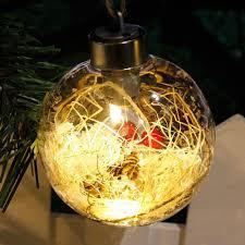 merry tree led bulb light clear plastic ornament