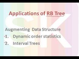 applications of rb tree augmenting data structure order