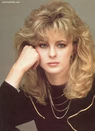 1980 bob hairstyle romantic long 1980s hairstyle with layers around the bangs and face