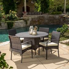 Ebay Patio Furniture Sets - round mosaic dining set seats 6 patio dining sets at hayneedle