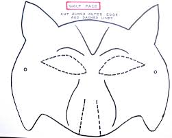 free printable wolf masks stencil twilight family how to make