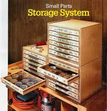 small parts storage system plans workshop solutions plans tips