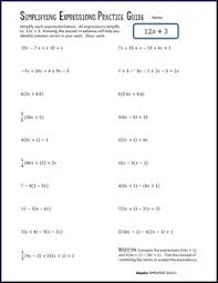 distributive property u0026 combining like terms practice guide tpt