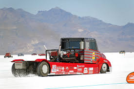this v16 powered semi truck is the fastest big thing at bonneville