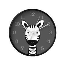 zebra nursery wall clock black and white kids room decor u2013 latte
