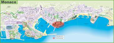 Monte Carlo Las Vegas Map by Monaco Travel Map