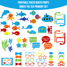instant download primary under the sea printable photo booth prop
