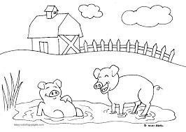 Free Farm Coloring Pages Animal Vonsurroquen Me Farm Color Page