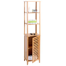 wandregal 60 breit narita badregal standregal badschrank mit staufach bambus