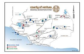 Simi Valley Map County Of Ventura Parks System Map