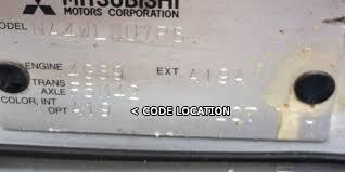 mitsubishi paint codes car paint colour code location