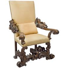 Throne Chair Venetian Throne Chair In The Manner Of Brustolon At 1stdibs