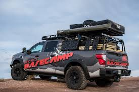 nissan leaf roof rack this tricked out nissan titan is a go anywhere basecamp on wheels