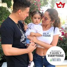 ace family wearing their family everything tees to support