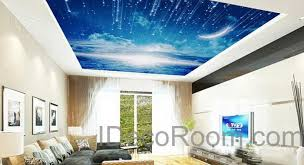 Starry Night Ceiling by 3d Moonlight Clouds Starry Night Ceiling Wall Mural Wall Paper