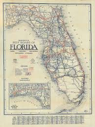 Map Of Florida by Florida Memory Clason U0027s Guide Map Of Florida C 1927