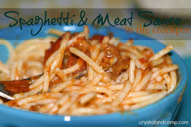 easy recipes spaghetti and meat sauce in the crockpot