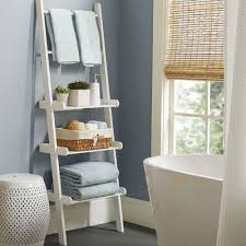 Bathroom Storage Ladder Varick Gallery Lower West Side Bathroom Shelf Reviews Wayfair
