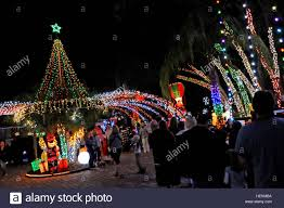 winter park christmas lights winter park florida usa 22nd december 2016 people enjoy a stock