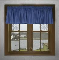 Blue Curtain Valance Solid Royal Blue Colored Café Style Curtain Includes 2 Valances