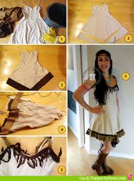 Indian Halloween Costumes Girls Easy Sew Diy Pocahontas Native American Indian Costume