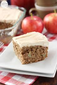 maple frosting apple cake with maple frosting a kitchen addiction