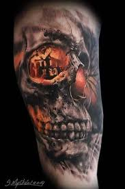 color 3d skull jpg 446 673 amazing tatto
