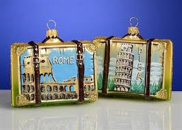 rome italy suitcase glass ornament each the