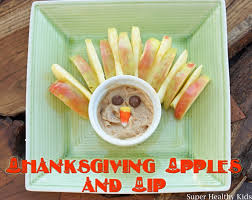 thanksgiving apples and dip healthy ideas for