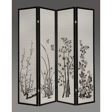 Folding Room Divider Oriental Folding Screen Ebay