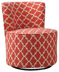 accent chair swivel base coral