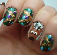 nail art christmas tree u2013 slybury com