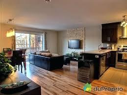 cuisine ouverte sur s駛our modern decoration salon cuisine americaine vue cour arri re de