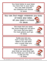 printable dr seuss quote bookmarks thatbaldchick christmas