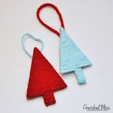 yarn christmas tree ornaments beatiful tree